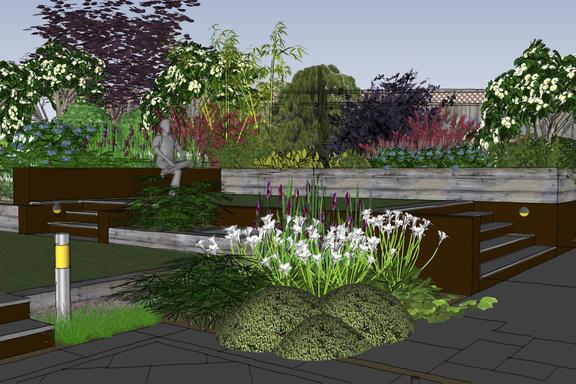 A contemporary garden design in glasgow scotland the for Garden design glasgow