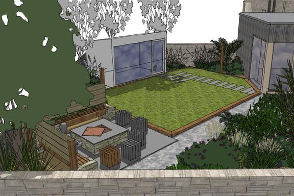 A contemporary garden design in portobello edinburgh the for Garden design edinburgh