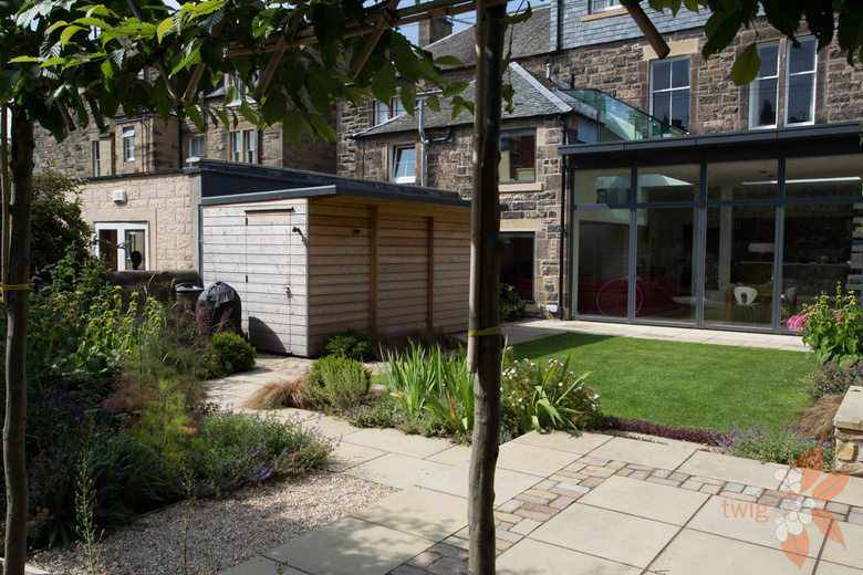 Contemporary Back Garden Scottish Garden Design Portfolio Twig Garden Design Scotland